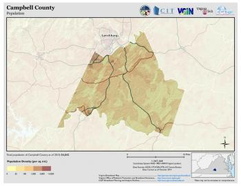Population Map of Campbell County
