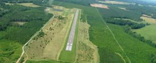 Aerial airport image