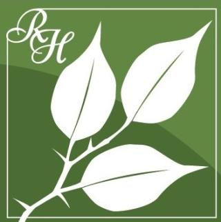 Red Hill's Green logo with white branch and leaves.