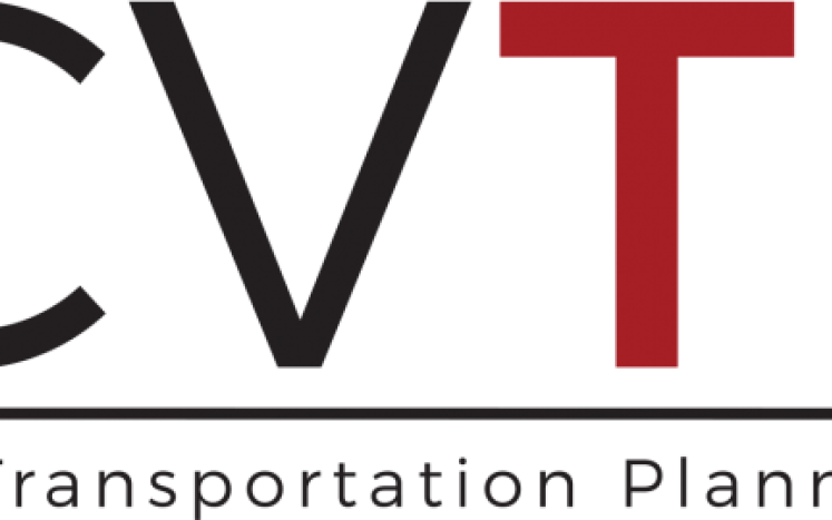 Central Virginia Transportation Planning Commission red and black lettering reading CVTPO with a cardinal image