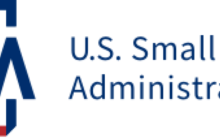 Small Business Administration Blue and Red Lettering Logo